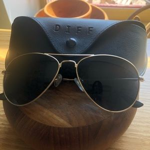 Diff aviator sunglasses